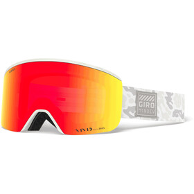 Giro Axis Goggles Heren, whiteout/vivid ember/vivid infrared